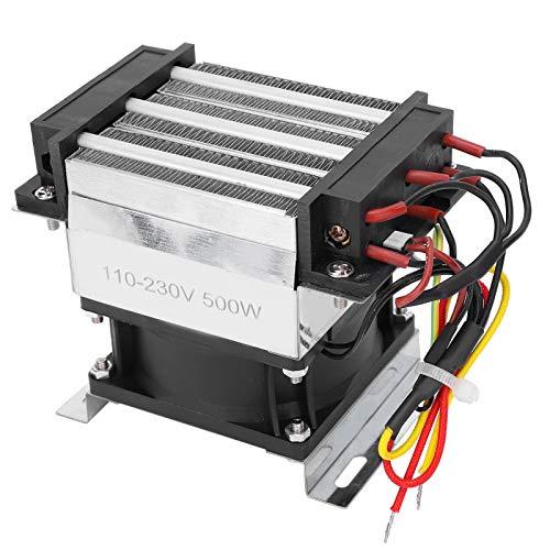 Calentador de aire de cerámica PTC con ventilador AC110-230V, calentador termostático para aire acondicionado, componente de calefacción de cerámica termostática