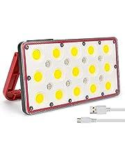 yidenguk Led-werklamp USB Oplaadbaar Schijnwerper Draagbare LED campingverlichting 5 Helderheidsmodellen 5000 mAh Powerbank IP67 Buiten Waterdicht noodlicht voor tuin Garage BBQ Auto Repareren