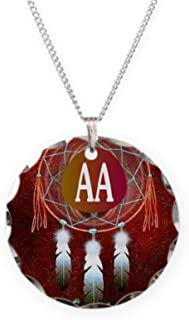 CafePress - AA INDIAN - Charm Necklace with Round Pendant