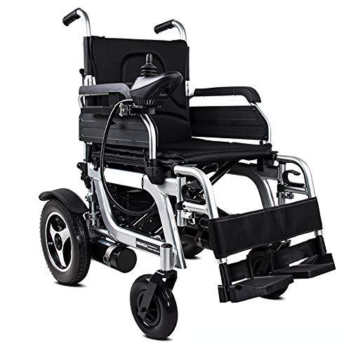 QBYLYF Rollator Transportstuhl Tragbarer Sport Motorisierte Electric Power Rollstuhl Faltbare Leichte Dual-Motor Aviation Reisen Long Range
