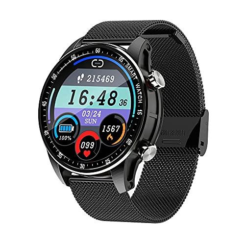 LZXMXR Smart Watch, Reloj de múltiples Funciones de Pantalla táctil de círculo Completo de 1.28 Pulgadas, detección de Cuerpo de 24 Horas Pulsera de Llamada Bluetooth