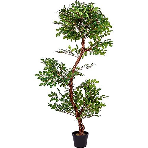 PLANTASIA® Künstlicher Schnurbaum, Sophora, Echtholzstamm, Kunstbaum, Kunstpflanze - 160 cm, Schadstoffgeprüft