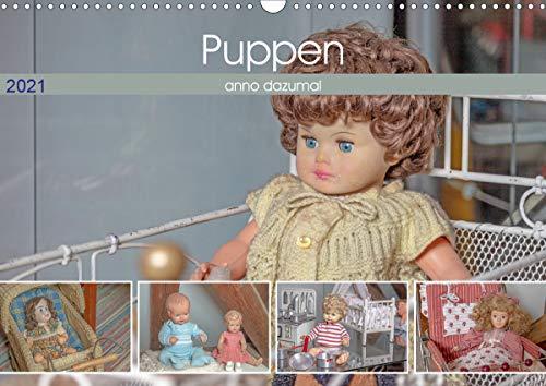 Puppen anno dazumal (Wandkalender 2021 DIN A3 quer)