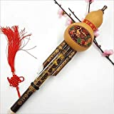 QFWN Chinois Main Hulusi Gourd cucurbitacées Flûte Instrument de Musique Ethnique C clé BB Tone for débutants Music Lovers Gift (Color : BB Tone)