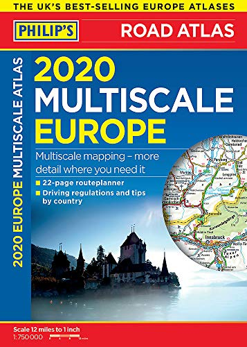 2020 Philip's Multiscale Europe: (A4 Spiral binding) (Philips Road Atlas)