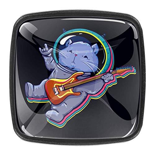 Kristallglas zieht Katze im Raum mit Gitarrenschrank Schrank Badezimmerschrank Kommode Knöpfe Zieht für Küche Schubladenschrank Knöpfe 4 Stk