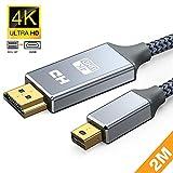 Mini Displayport to HDMI 変換 ケーブル 1.8M 4K@30Hz ミニディスプレイポート HDMI 変換 Mini DP サンダーボルト Thunderbolt 2 to HDMI IMac Air/Pro、iMac Surface Pro、モニター、プロジェクターに対応 (1.8M, グレー)