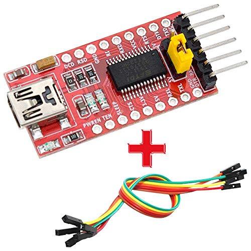 OcioDual Módulo FT232RL FTDI Mini USB a TTL Conversor Serial 3,3-5V con...