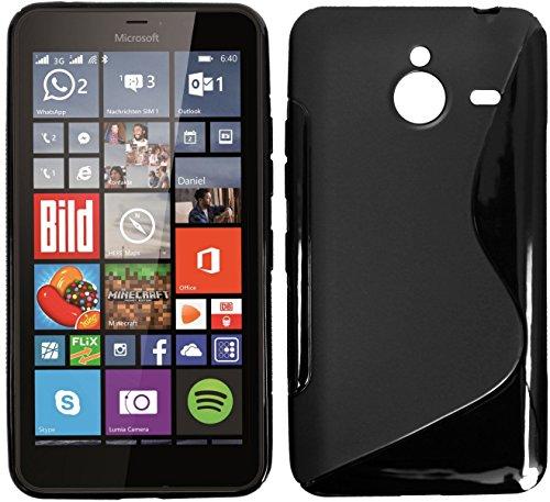 tomaxx Microsoft Lumia 640 XL Hülle s-tpu Tasche Schutzhülle schwarz