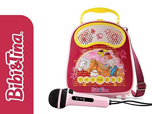 X4-TECH Bobby Joey Casey Music - Bibi & Tina Edition - Kinder Karaoke Koffer - 2x Mikrofone, Soundeffekte, Bluetooth, USB, SD