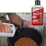 Carp Zoom 200ml 2 in 1 Aroma Liquid hoch konzentrierter Futterzusatz Aditive Strawberry-Coriander/Farbe Rot