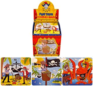 6 Pirate Puzzles Toys Gift Favours Childrens Kids Party Bag Fillers by Partyrama