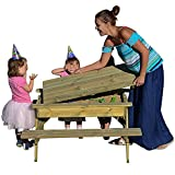 BrackenStyle Children's Sandpit Picnic Table - Kids Garden Play Table With Storage - Rounded Edges For Safety (1.03M Length)