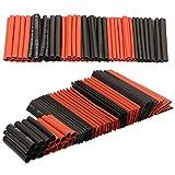 Guangcailun 127PCS / Set termorretráctiles Wrap eléctrica Cable Wire Tubo retráctil, Envoltura eléctrica Mangas PE 2: 1 Insulated Manguitos Surtido