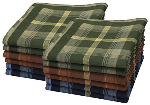 Betz 12 Stück Herren Stoff Taschentücher Set Größe 40x40 cm 100% Baumwolle verschiedene Designs Farbe D Design 1