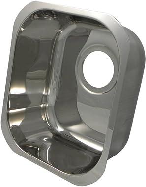 "14"" x 12"" Rectangular Bar Sink Finish: Polished Stainless Steel"