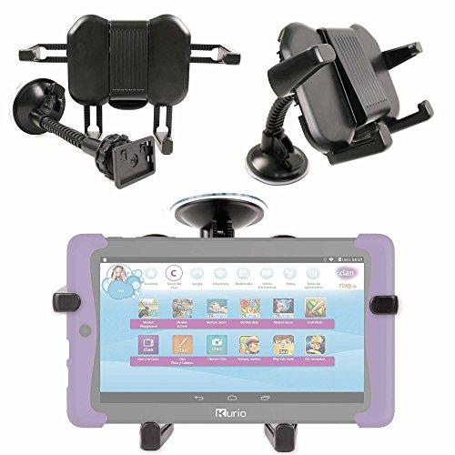 DURAGADGET Soporte para Coche para Cefatronic - Tablet Clan Motion Pro | con Potente Ventosa Y Brazo Articulado