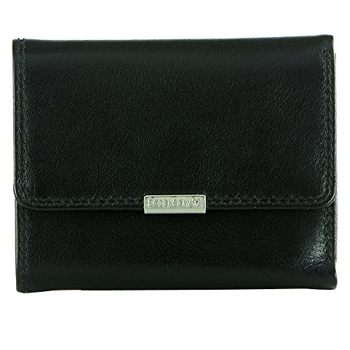 Bodenschatz Mini-wallet - Portafogli Unisex – Adulto, Schwarz (Black), 2x8x10 cm (L x H D)