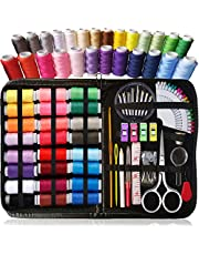 ARTIKA® SEWING KIT, Over 100 XL Quality Sewing Supplies, XL Spools of Thread, kit de couture, mini sewing kit for DIY, Beginners, Emergency, Kids, Summer Campers, Travel and home…