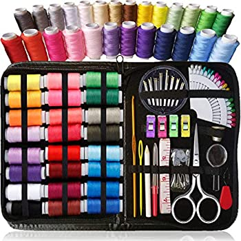 ARTIKA Sewing KIT Premium Sewing Supplies XL Spools of Thread Most Useful Colors Emergency Repairs Travel Kids Beginners and Home  Rainbow