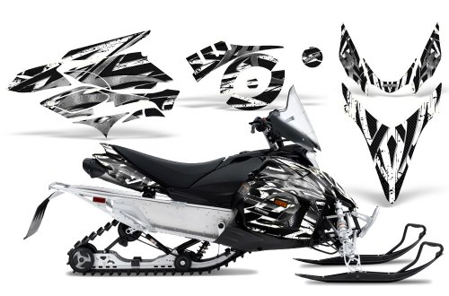 CreatorX Graphics Kit Decals Stickers for Yamaha Phazer Rtx Gt Mtx Snowmobile Sled Bolt Thrower White