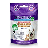 Fizzion Pet Stain and Odor Extra Strength Eliminator 2 Refills (Extra Strength)