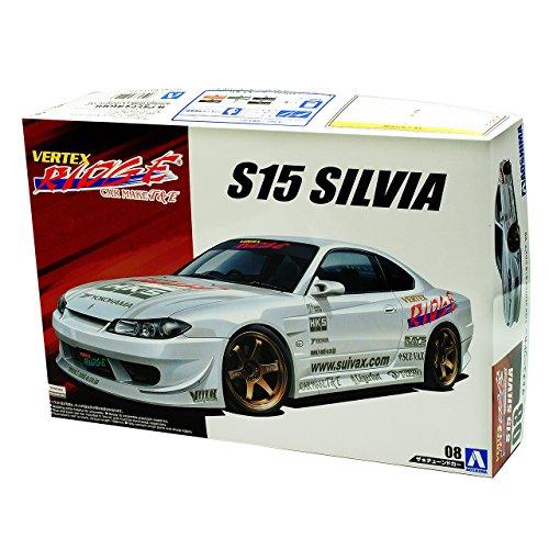 Aoshima Nissan Silvia S15 Coupe Weiss Tuning 7. Generation 1999-2002 Kit Bausatz 1/24 Modell Auto Modell Auto
