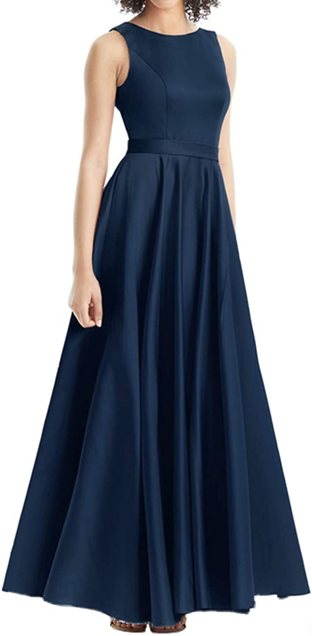 Bridesmaid Dresses Long Prom Dresses Satin Formal Evening Gowns for Women Simple Bridesmaid Dress