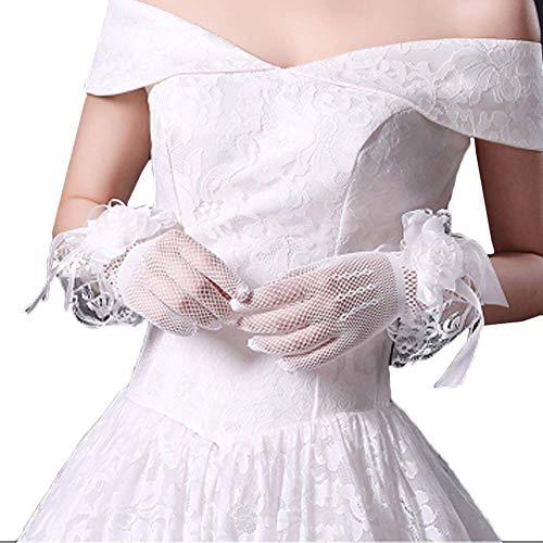 Gants de mariée mariage robes de soirée dentelle gants courts B06