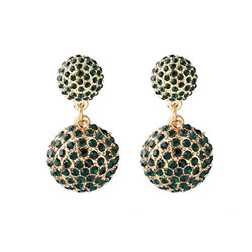 Orecchini a goccia geometrici con cristalli trasparenti e verdi e Lega, colore: Green Earring