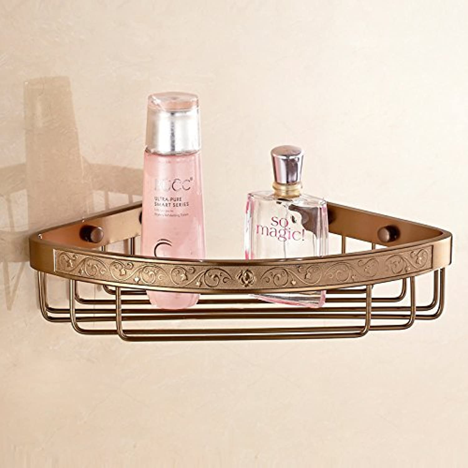 Bathroom Bathroom Shelf corner shelf Wall shelves space aluminium pendant carved antique