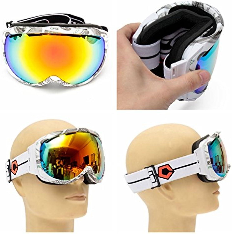HELEISH Unisex Anti Fog Revo Doppelscheibe Winter Racing Outdooors Snowboard Skibrille Sun Glassess CRG98-11 Motorradzubehr