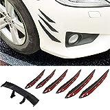 Auto Mini Spoiler Ala di Coda Posteriore,JEANGO Spoiler per Paraurti Anteriore Auto in Fibra di Carbonio Decorazione del Veicolo (7PCS)