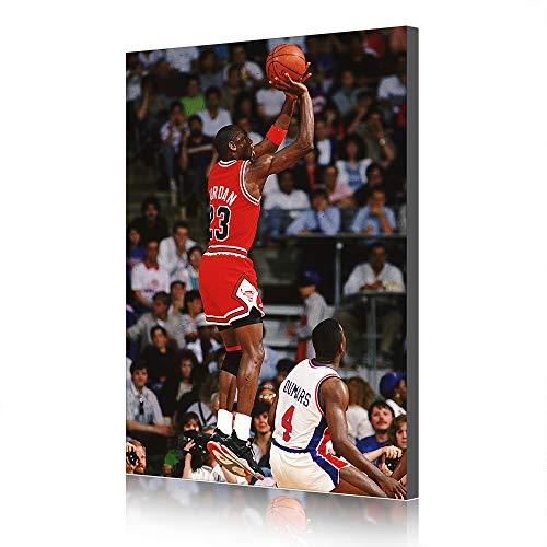 Grafica di Poster di Basket in Tela di NBA Michael Jordan per La Decorazione del Salotto (Prints-16,60x90cm)