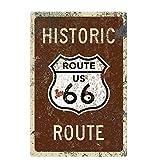 Lumanuby. 1x Schäbiger Stil 'Route 66' Vintage Schild mit