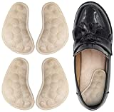 Dr. Foot's Supination & Over-Pronation Corrective Shoe Inserts, Medial & Lateral Heel Wedge Insoles for Foot Alignment, Knee Pain, Bow Legs, Osteoarthritis - 2 Pairs (Beige)
