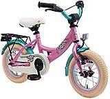 BIKESTAR Kinderfahrrad für Mädchen ab 3-4 Jahre | 12 Zoll Kinderrad Classic | Fahrrad für Kinder Pink | Risikofrei Testen