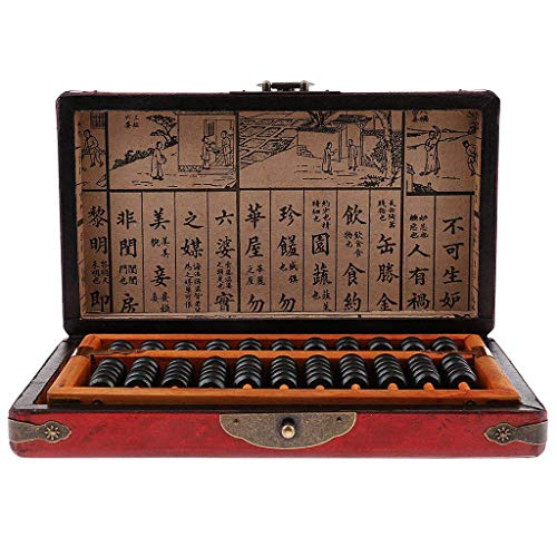 Backbayia Holz Chinesische Arithmetischer Abakus Rechenmaschine Berechnungs Werkzeug mit Holzkiste