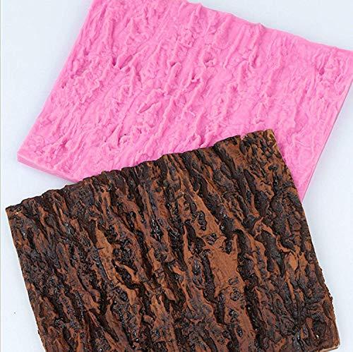 Molde rectangular para pasteles, corteza de árbol, diseño de textura, molde para hornear pan, revestimiento antiadherente, fondant, compuesto de impresión, DIY para pasteles, decoración, bodas