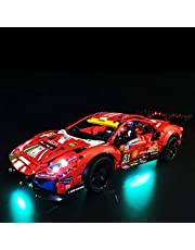 Yovso Verlichtingsset voor Lego 42125 Technic Ferrari 488 GTE bouwset, led-verlichtingsset compatibel met Lego 42125 supersportwagen (alleen led-verlichting, geen LEGO)