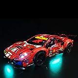 Elroy369Lion Kit de iluminación LED de decoración para Lego Technic Ferrari 488 GTE AF Corse 51 42125 Kit de construcción (no incluye modelo Lego)