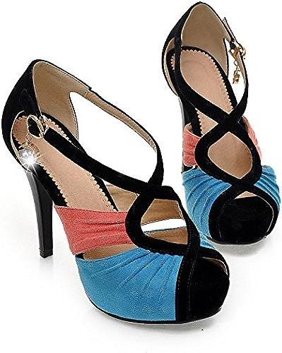 SFSYDDY-11Cm Talons Hauts Sandales Summer Mesdames Chaussures De Marche Les Boîtes De Nuit.