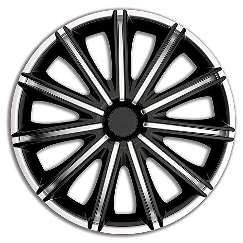 AutoStyle PP 5118SB Satz Radzierblenden Nero 18-Zoll Silber/Schwarz, inch