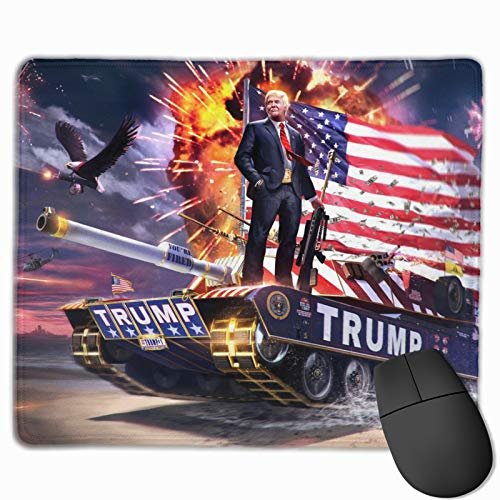 Trump Tank Mouse Pad 11.8 X 9.8 Inch Mouse Mat Non-Slip Rubber Base Gaming Mousepad Waterproof Office Home Mouse Pad (25x30cm)