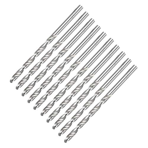 Drill Bits  3.1mm Twist Drill High Speed Steel Bit HSS-4241 for Steel, Aluminum Alloy 10pcs