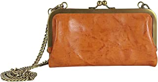Ancicraft Clutch Evening Bags For Women Leather Purse Wallets Shoulder with Clasp Chain Link Strap Fashion Elegant