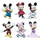 Mickey Cake Topper,BESTZY 6Pcs Mickey Mini Juego de Figuras Decoración para Tartas,Cake Topper Juguetes Baby Shower Fiesta de cumpleaños Pastel Decoración Suministros