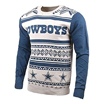 Klew NFL Dallas Cowboys Two-Tone Cotton Ugly Sweater Blue XX-Large