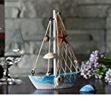 KESOTO 3 Stück Holz Segelschiff Deko Maritim Dekoartikel MEER Schiff Boot - 3