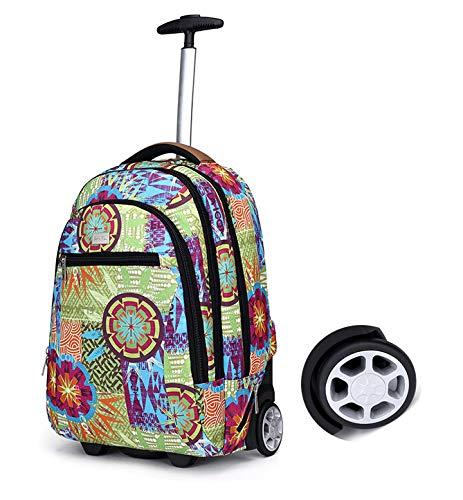 LHY SAVE Rucksack Trolley für Kinder Laptop Rucksack Trolley,Wasserdicht Rucksäcke Für Business Reise Und Urlaub Passt Bis Zu 17.3 Zoll Laptop,A